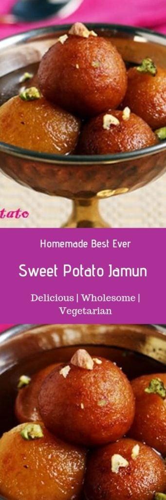 Sweet potato gulab jamun recipe-