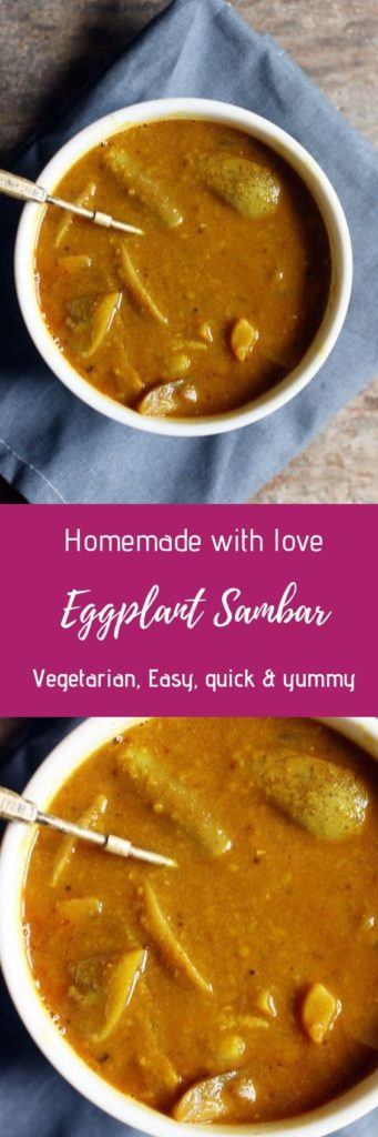 Brinjal sambar recipe