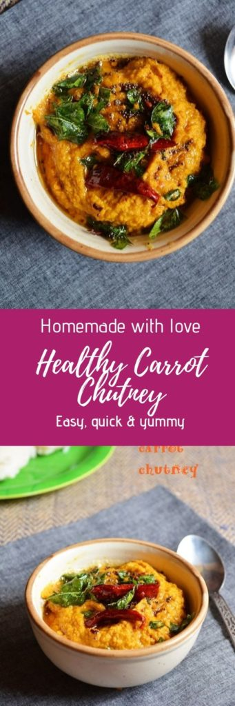 Easy and healthy carrot chutney