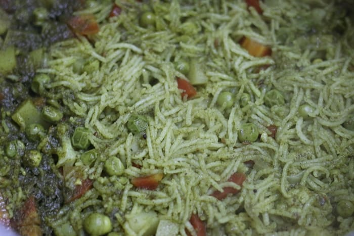 pudina rice cooked