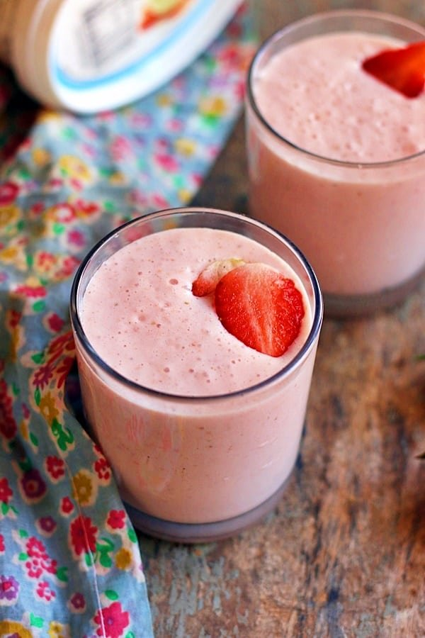 classic homemade strawberry milkshake