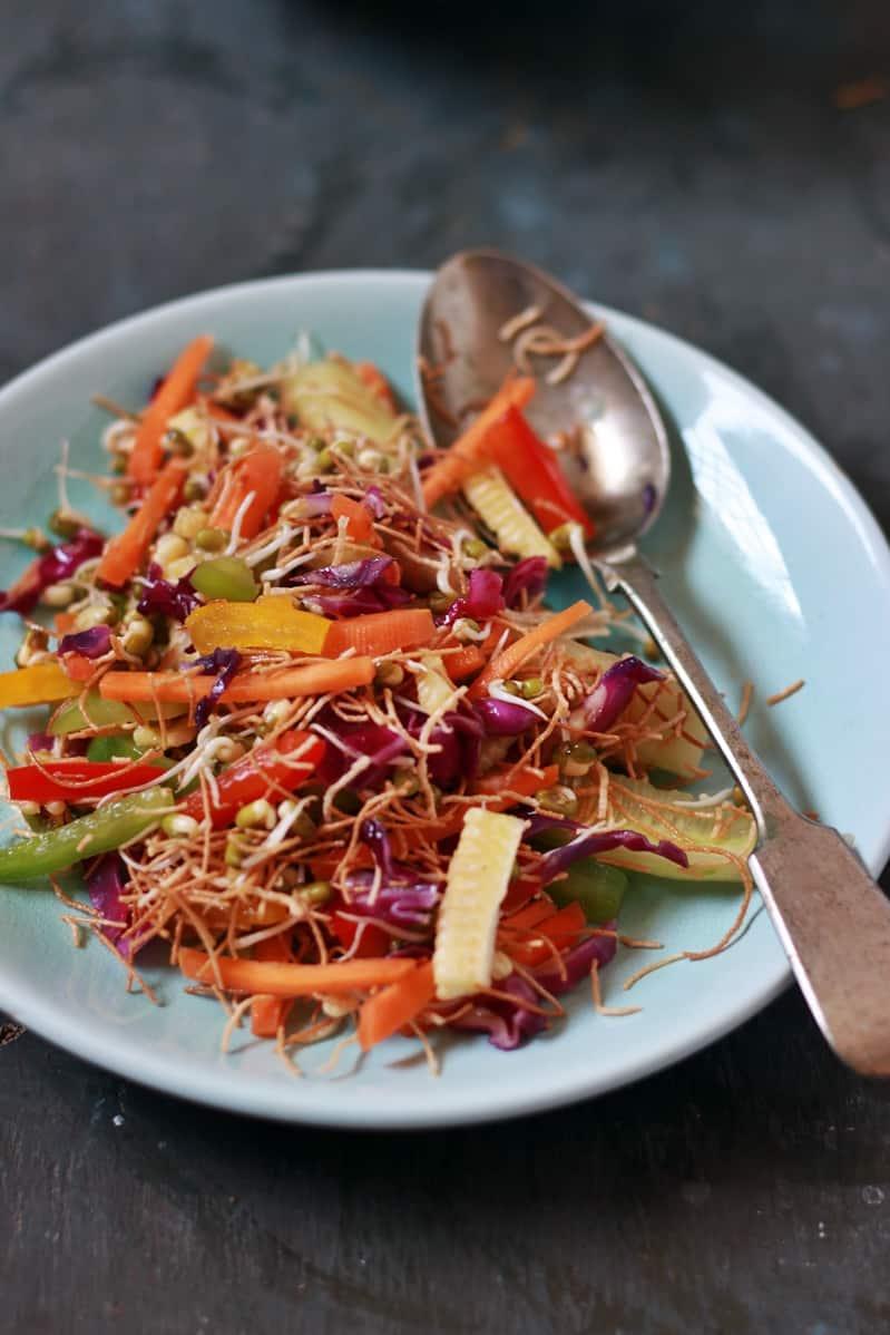 veg crisp salad recipe f