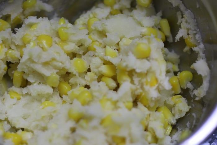 making corn cutlet recipe