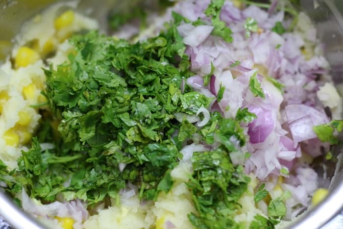 ingredients to make corn cutlet recipe