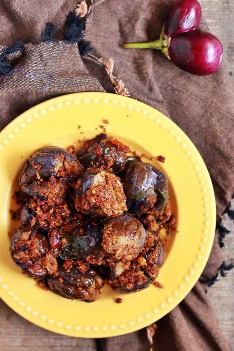 stuffed eggplant curry recipe