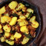 Garlic potato fry recipe, how to make garlic potato fry
