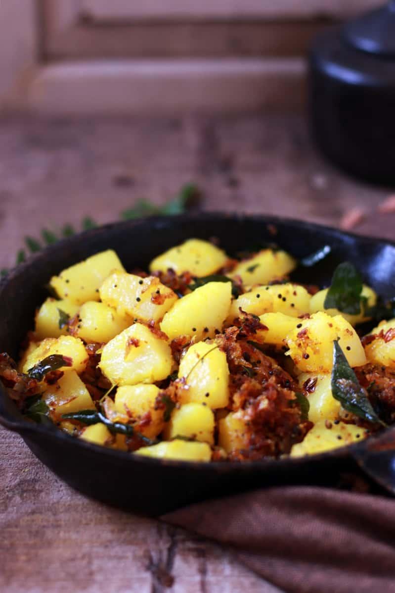 garlic potato fry recipe d