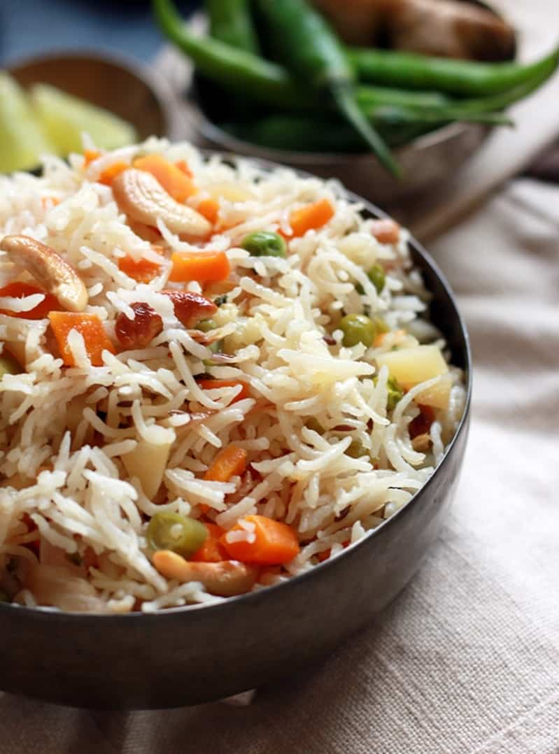 vegetable pulao recipe e