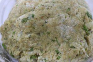 potato mixture or potato dough for aloo tikki