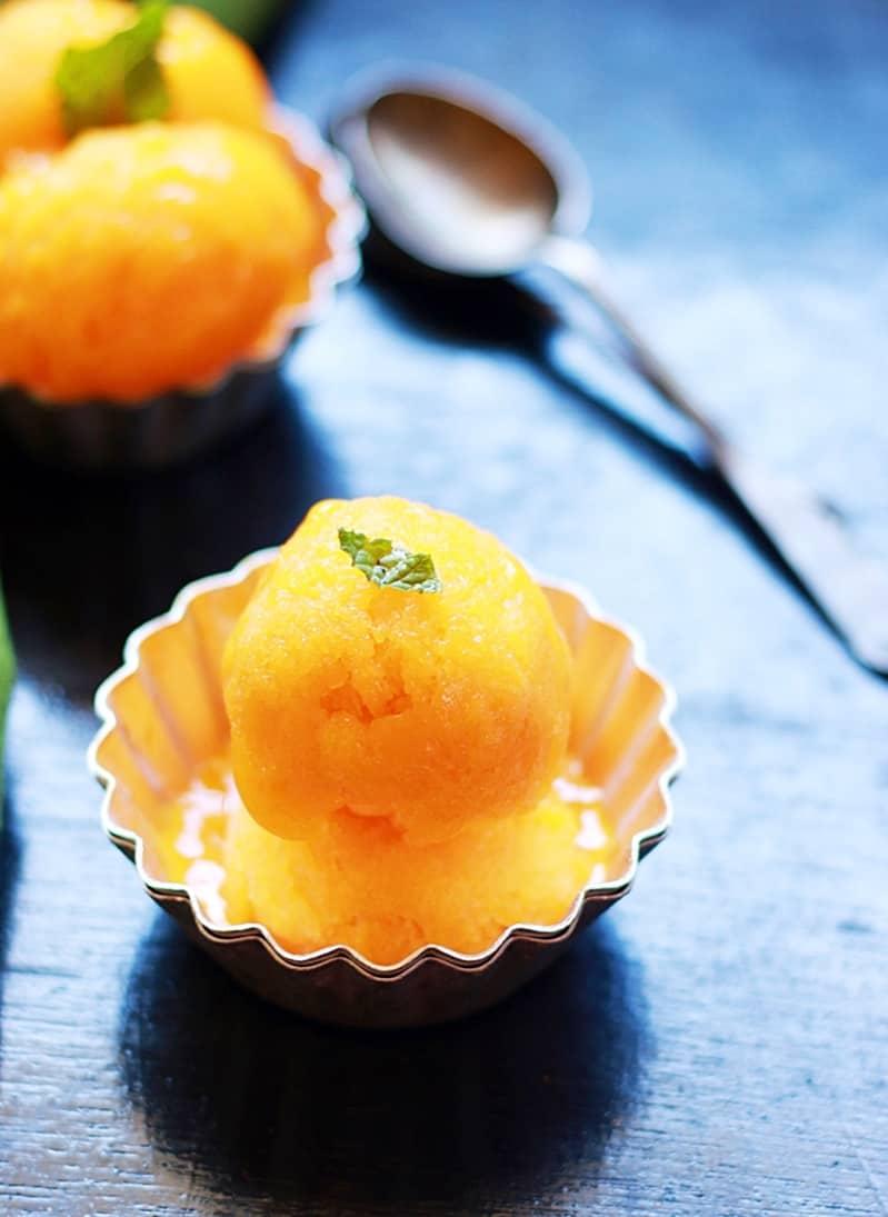 mango sorbet recipe a