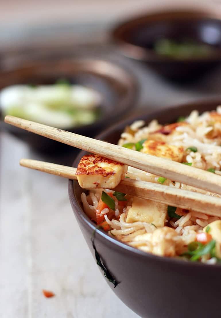 paneer fried rice recipe b
