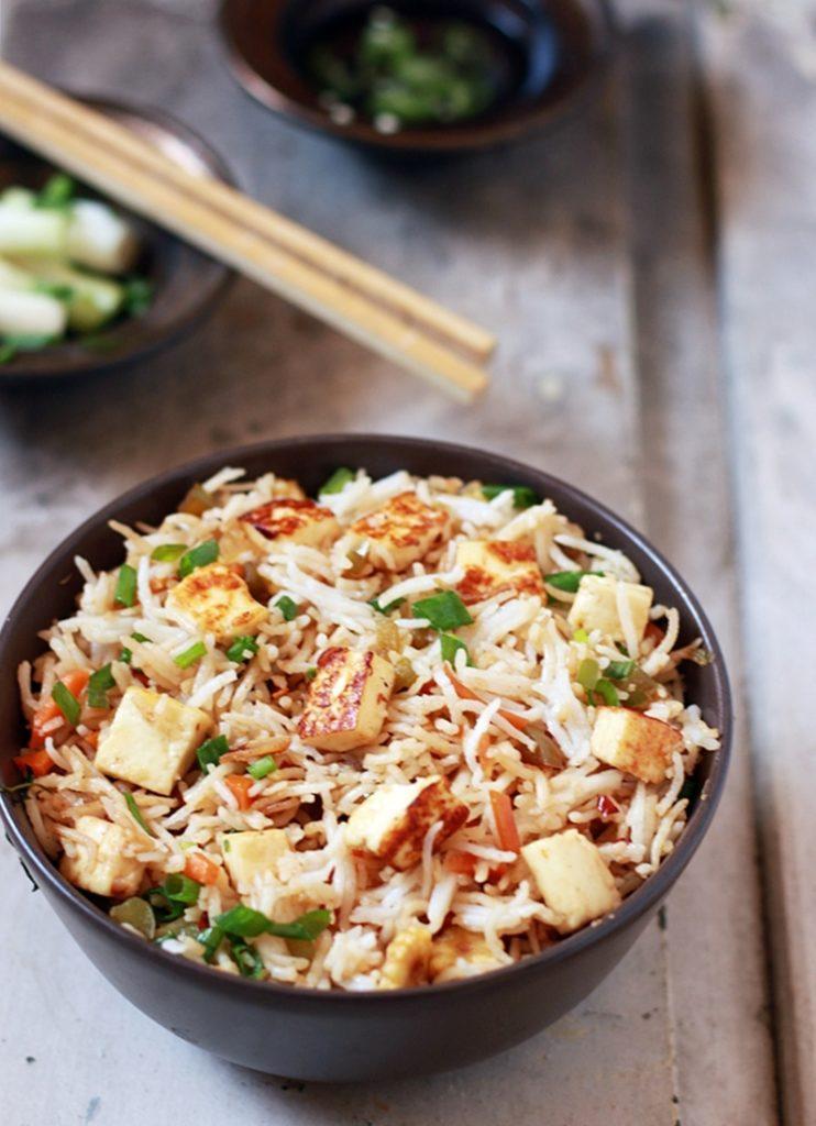 easy paneer fried rice