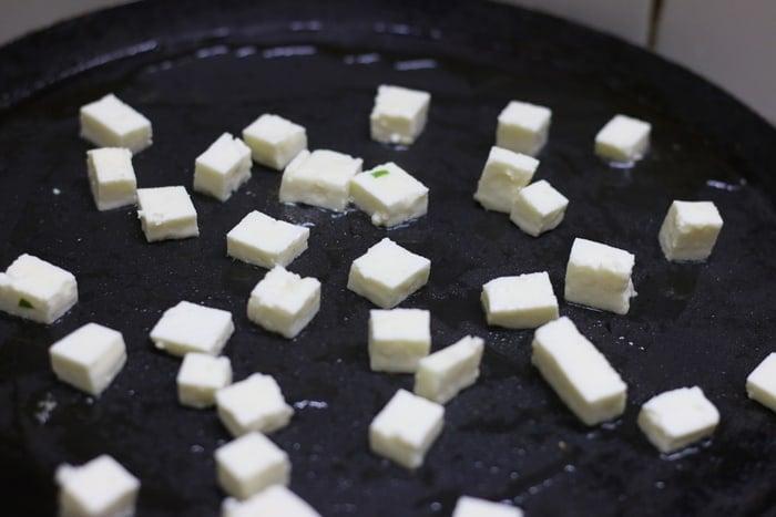 paneer fried rice step 1