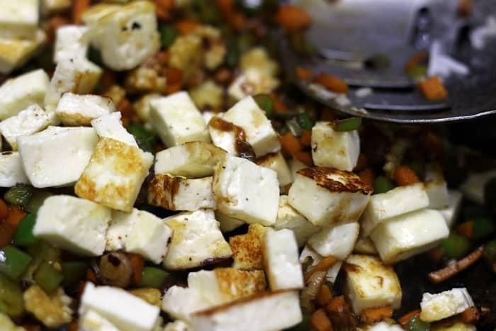 paneer fried rice step 5