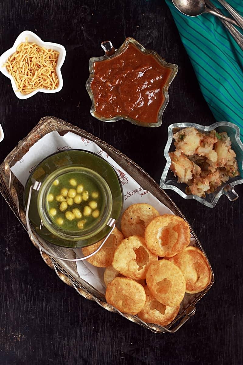 Ingredients for pani puri recipe