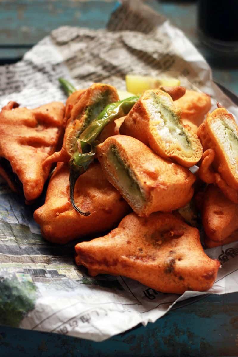 bread pakora recipe, Indian breakfast recipes
