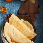 crispy dosa served with chutney, sambar and podi