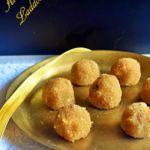 Aval Laddu Recipe served on a brass plate