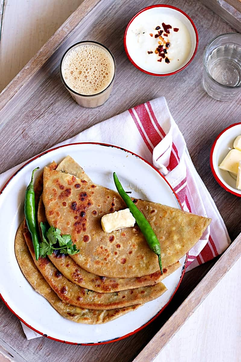 aloo paneer paratha recipe