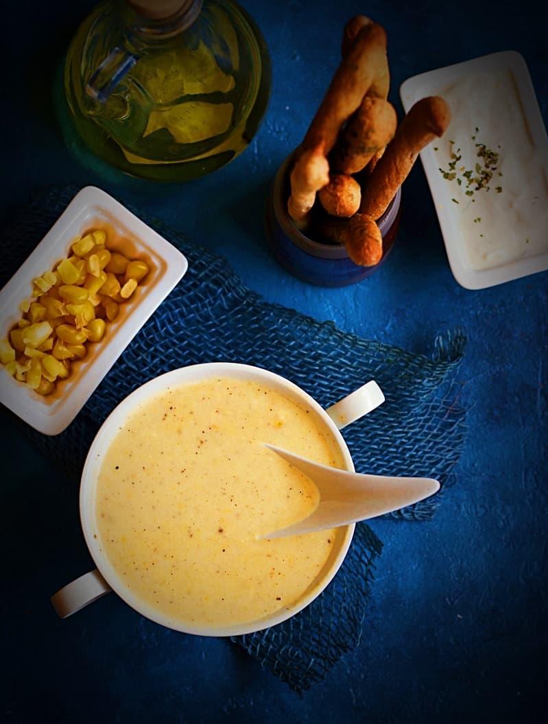 cream of sweet corn soup recipe