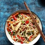 Chili garlic noodles recipe without sauces | Easy dinner recipes