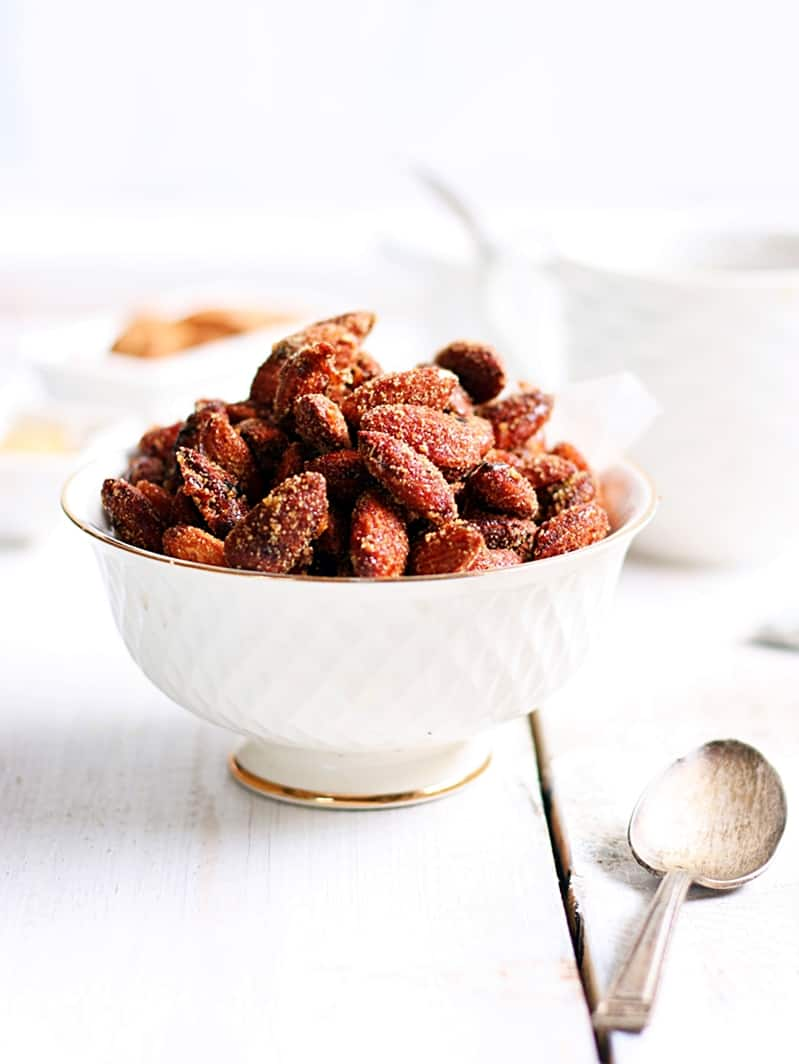oven roasted honey chili almonds recipe