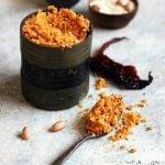 Dry garlic chutney recipe for vada pav | Garlic chutney podi recipe
