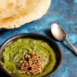 coconut coriander chutney recipe | green coconut chutney recipe