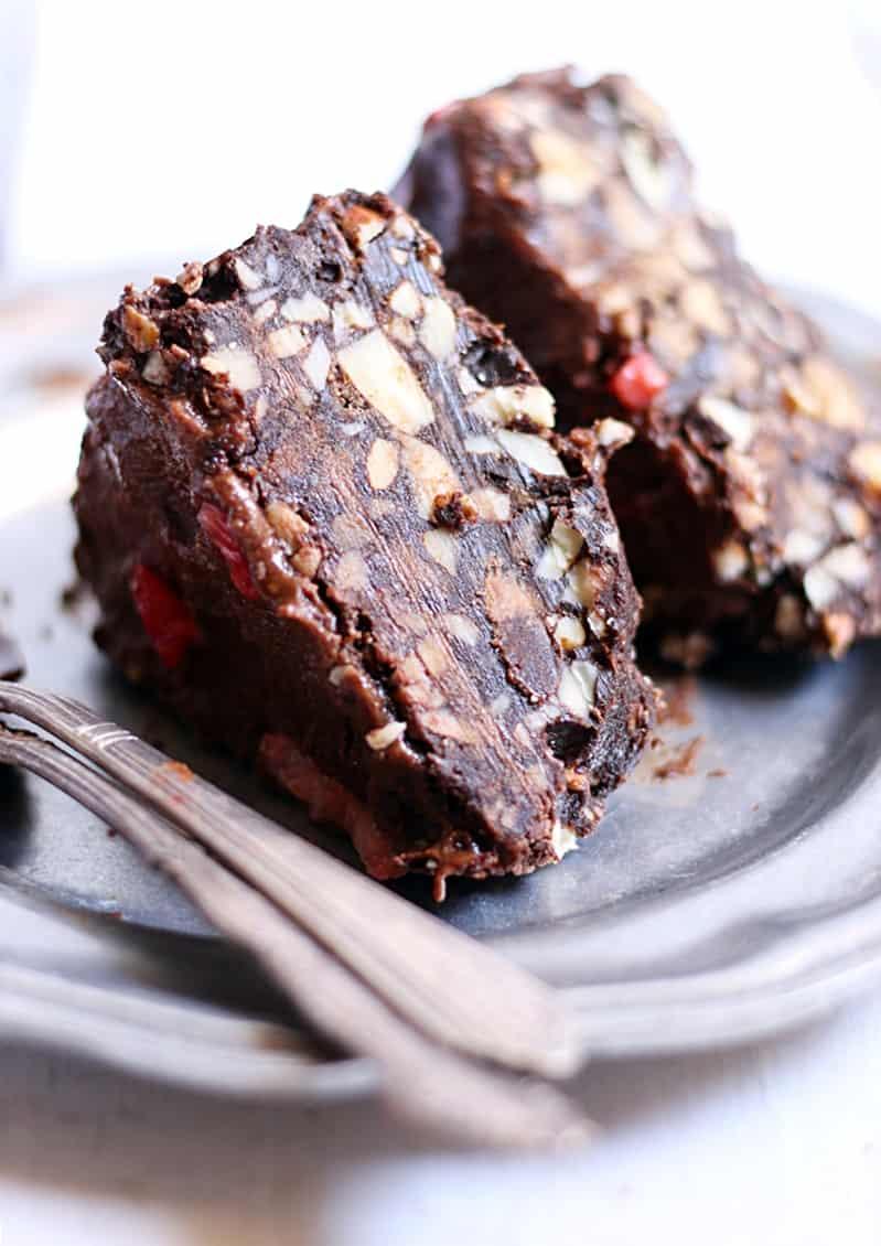 no bake chocolate almond cake recipe d