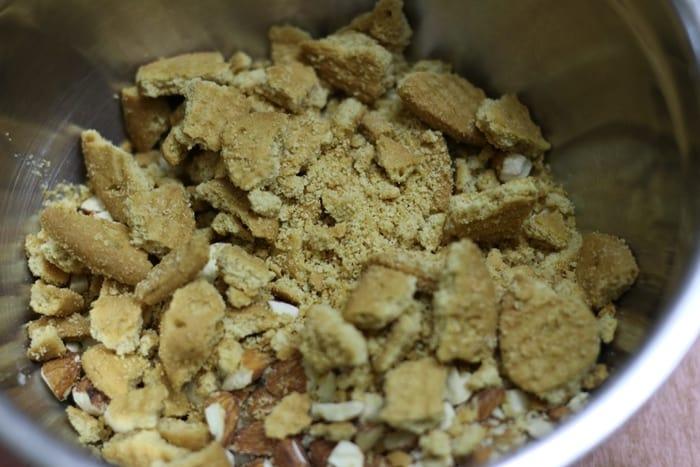 no bake chocolate almond cake step 1
