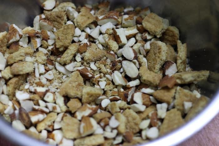 no bake chocolate almond cake step 2