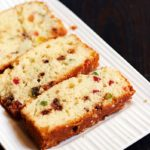 Eggless orange loaf recipe | Orange tutti frutti loaf recipe