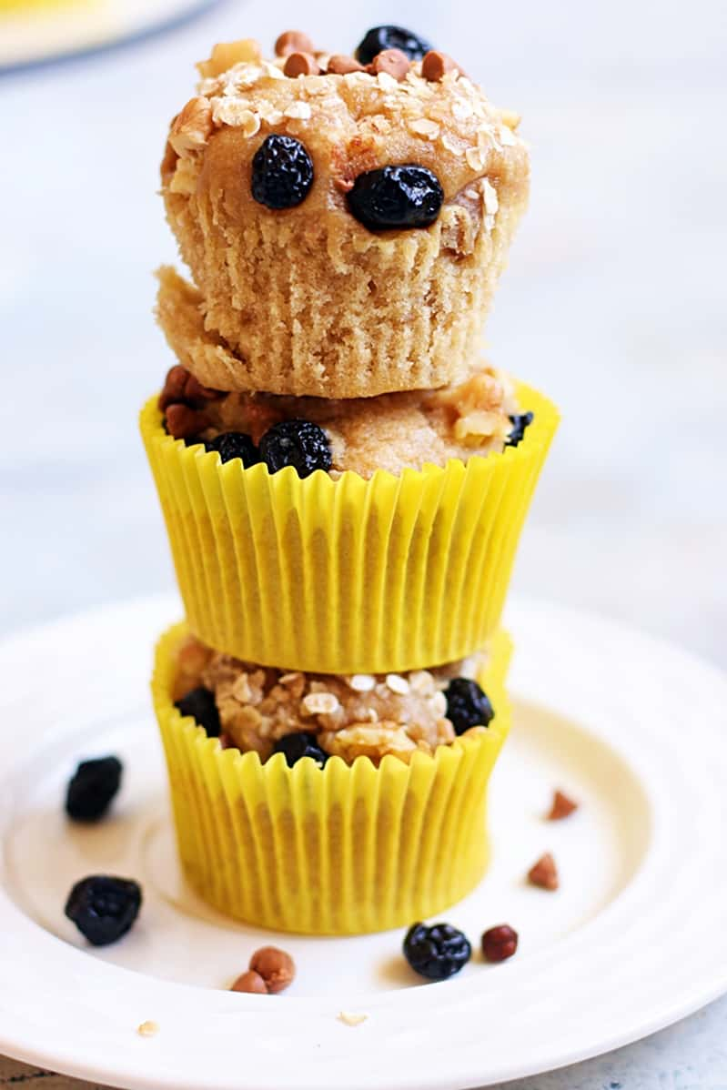 vegan banana muffin recipe with multigrain flour cook click n devour. Black Bedroom Furniture Sets. Home Design Ideas