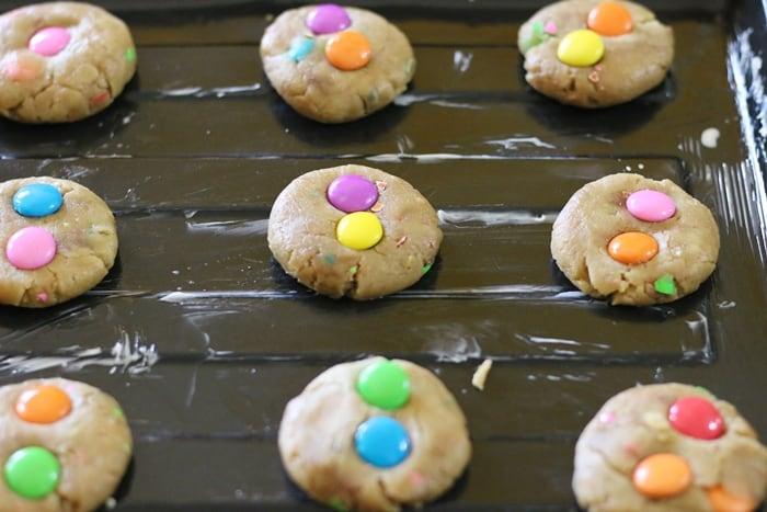 m&m cookies step 4