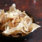 Sun dried potato chips recipe | Homemade potato wafers recipe