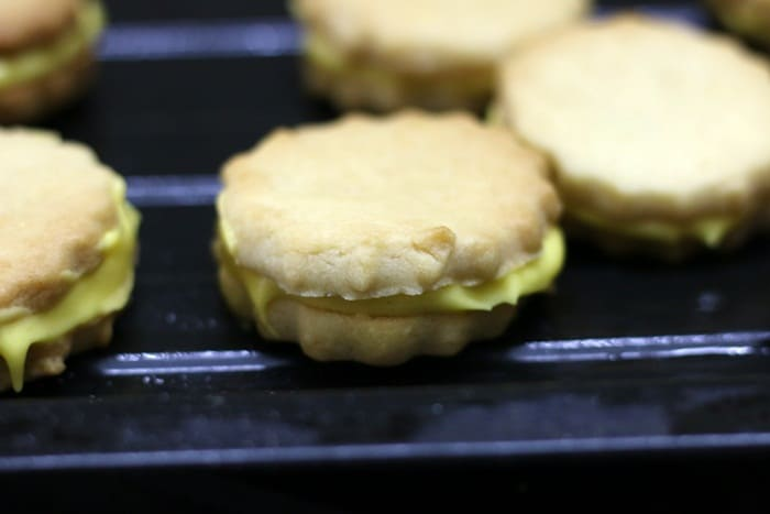 custard cookies sandwiched with cream