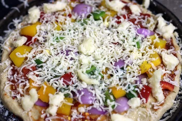 whole wheat pizza recipe step 6