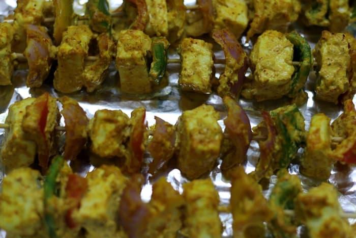 grilled tandoori paneer tikka recipe