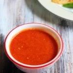 Tomato garlic dip recipe    Easy tomato garlic chutney recipe