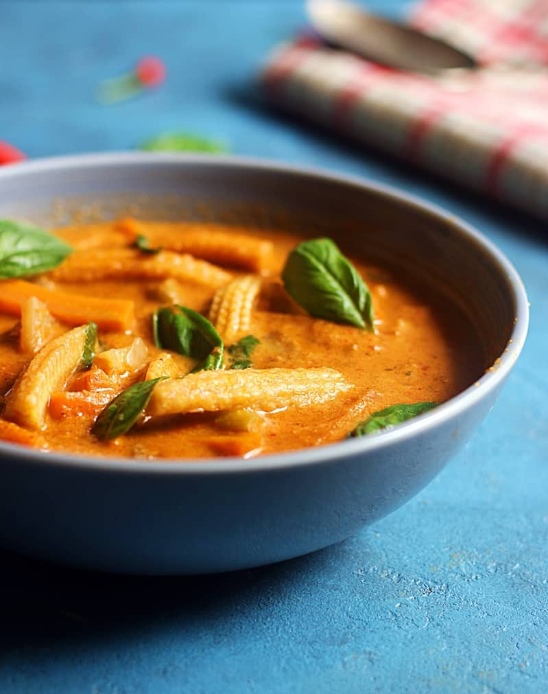 thai red curry recipe how to make veg thai red curry recipe