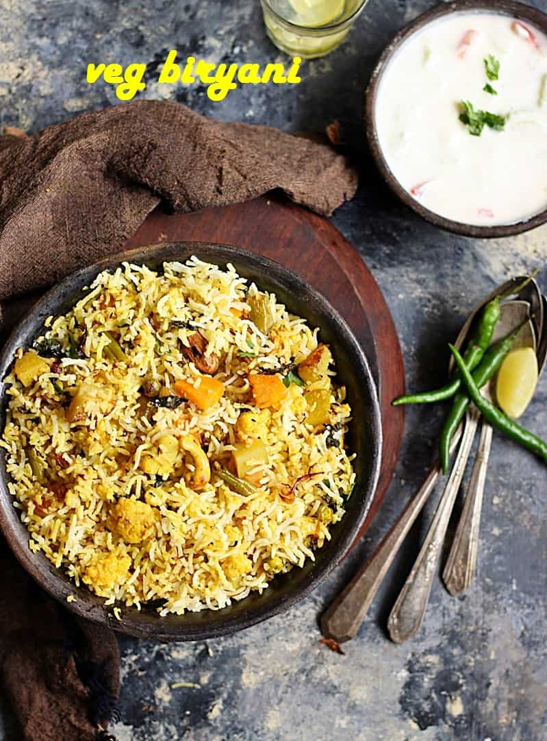 veg biryani recipe, how to make veg biryani