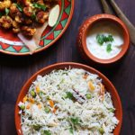 Coconut milk pulao recipe | Veg pulao recipe with coconut milk