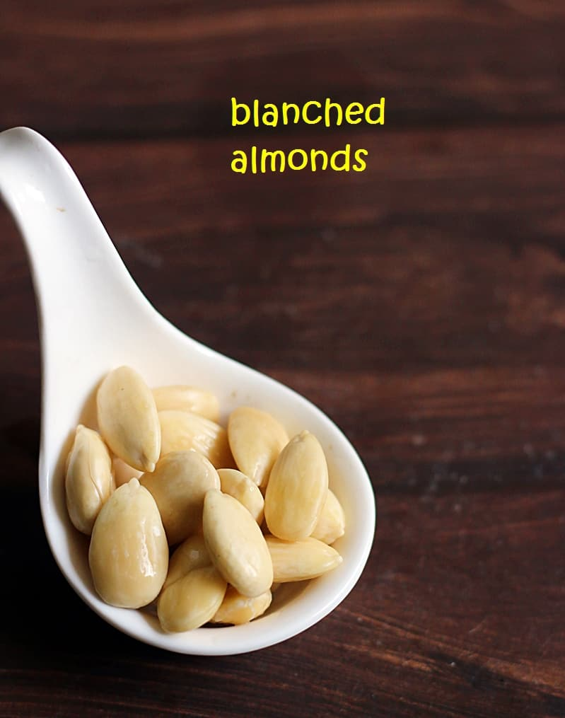 how to blanch almonds at home, blanched almonds recipe