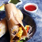 Paneer kathi roll recipe | Paneer frankie recipe | Paneer wrap recipe