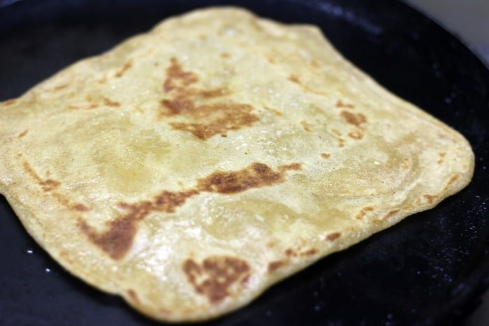 plain paratha recipe step 6