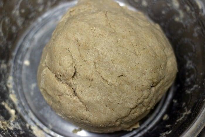 plain paratha dough ready to knead