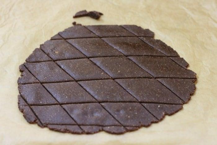 chocolate kaju katli recipe step 6