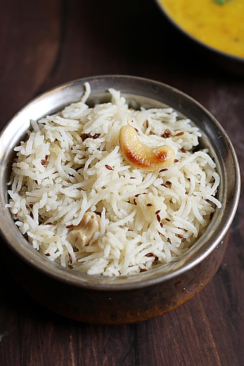 easy video recipe for making jeera rice