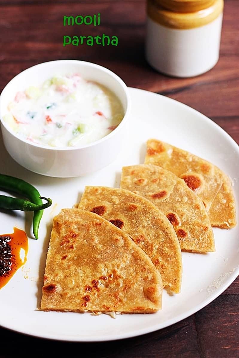 Mooli paratha recipe, how to make punjabi mooli paratha