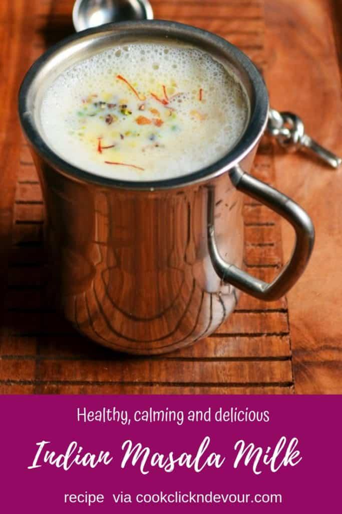 Masala milk recipe